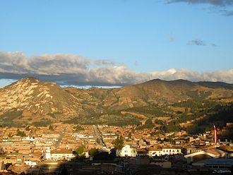 Huamachuco - Panoramic view of the city of Haumachuco