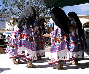Entheogen - Mazatec people performing a Salvia ritual dance in Huautla de Jimenez