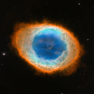 Cometary knot - Image: Hubble image of the Ring Nebula (Messier 57)