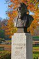 Hungary, Balatonfüred, Rabindranath promenade in autumn - Tagore statue.jpg