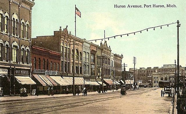File:Huron Avenue, Port Huron, MI.jpg - Wikipedia