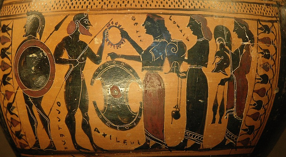 Hydria Achilles weapons Louvre E869