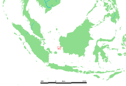 Localización de las islas Karimata