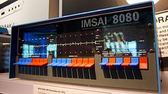IMSAI 8080 - Closeup of IMSAI 8080 front panel
