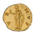 INC-1881-r Ауреус. Фаустина Младшая. Ок. 138—161 гг. (реверс).png