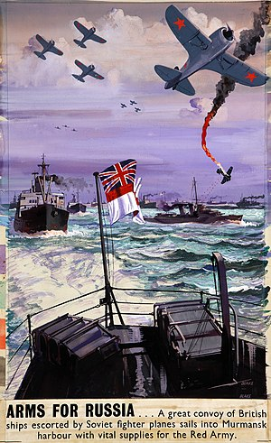 Arctic convoys of World War II - A British wartime poster about the Arctic convoys