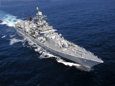 INS Mysore (D60) cruise top view