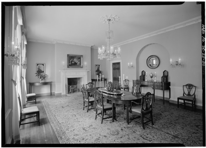 File interior first floor west room dining room for Dining room c house of commons