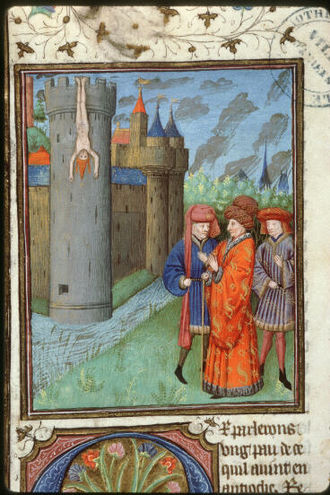 Constance of Antioch - Torture of Aimery of Limoges, Latin Patriarch of Antioch, by Constance's second husband, Raynald of Châtillon