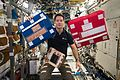 ISS-50 Thomas Pesquet with medical packs in the Destiny lab.jpg