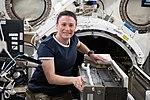 ISS-56 Serena Auñón-Chancellor works in the Kibo lab (1).jpg