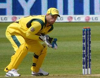 Matthew Wade - Wade wicketkeeping for Australia in 2013.