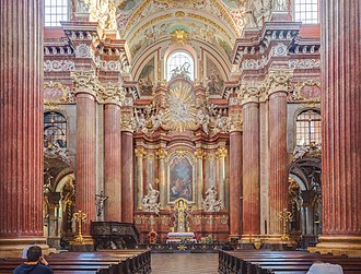 Collegiate church - Interior of Collegiate Church of Our Lady of Perpetual Help and Mary Magdalene in Poznań, Poland.