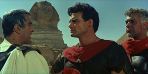 The Slave (1962 film) - From left to right, Ivo Garrani, Steve Reeves, and Renato Baldini