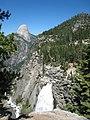 Illilouette Falls with Half Dome - panoramio.jpg