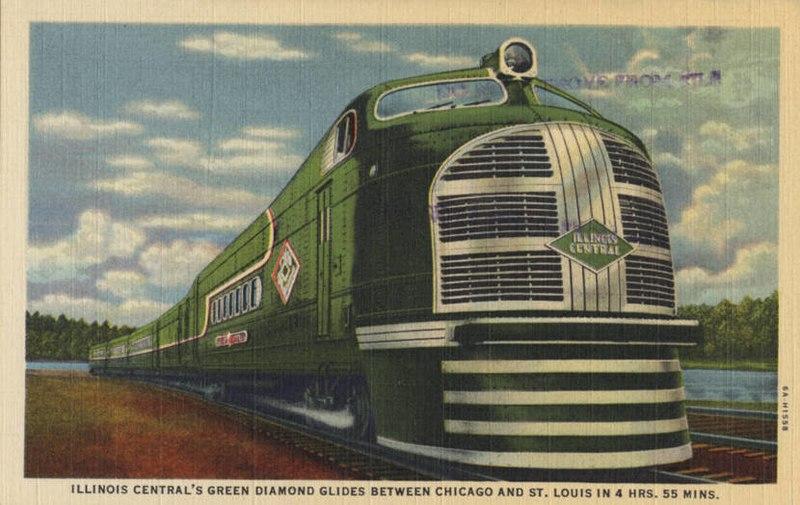 File:Illinois Centrals Green Diamond Glides Between ...