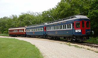 Chicago Aurora and Elgin Railroad - Car 308 in operation at the Illinois Railway Museum