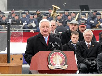 Tom Corbett - Tom Corbett delivering his inaugural address, January 18, 2011
