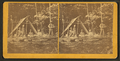 Indian camp in Maine, (showing family group sitting in front of tent), from Robert N. Dennis collection of stereoscopic views.png