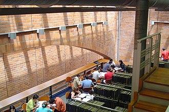 EAFIT University - Biblioteca Luis Echavarría Villegas from inside.