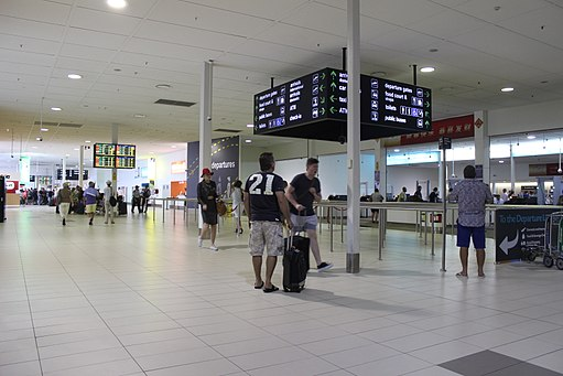 Interior of Gold Coast Airport terminal