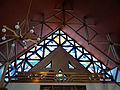 Interior of Saint Michael Archangel church in Puszcza Mariańska (brick church) - 09.jpg