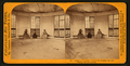Interior of the House built on the original Big Tree Stump, Calaveras County, by Lawrence & Houseworth 2.png