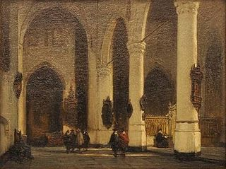 Interior of the Church of St Lawrence in Rotterdam
