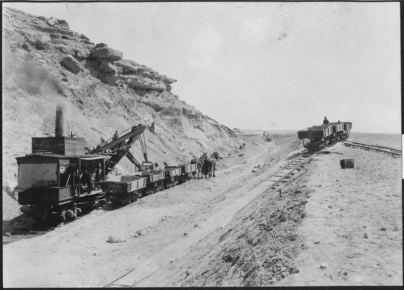 File:Interstate Canal. Orman and Crook's steam shovel at Sand Point near Ft. Laramie, Wyo. - NARA - 294368.tiff