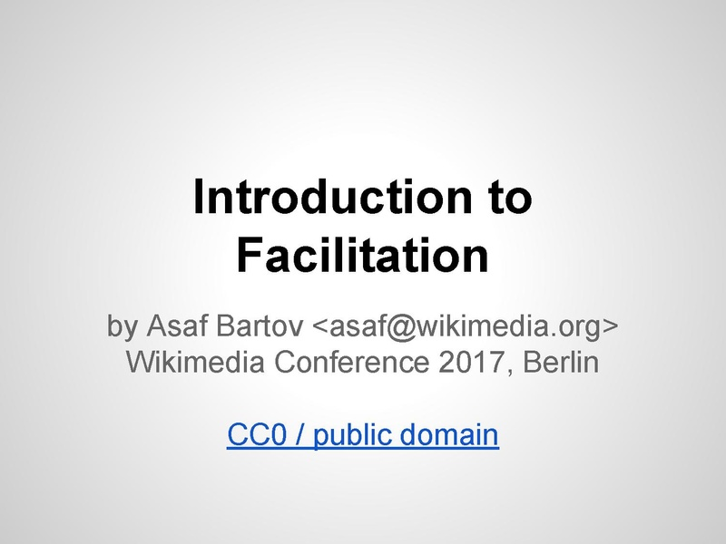 File:Introduction to Facilitation (WMCON '17).pdf