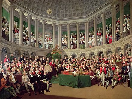 The House of Commons in session (by Francis Wheatley, 1780)