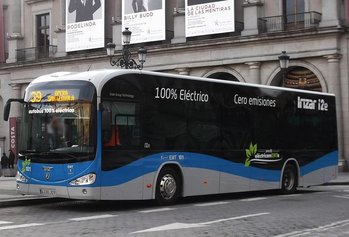 Autobús eléctrico - Wikipedia, la enciclopedia libre