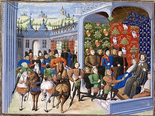 Isabeau of Bavaria and Charles VI at the Treaty of Troyes