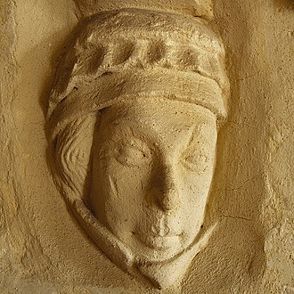 Isabel de Forz, suo jure 8th Countess of Devon - Isabella's possible corbel at Christchurch Priory, Dorset.