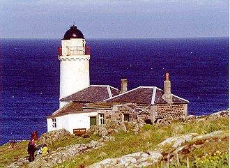 Isle of May - The disused Low Light lighthouse on the Isle of May, now used as a bird observatory