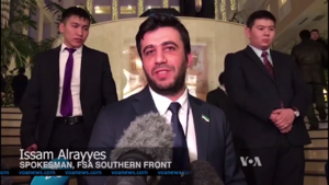 Southern Front (Syrian rebel group) - Maj. Issam Rayes, spokesperson of the Southern Front, during the Astana talks in January 2017