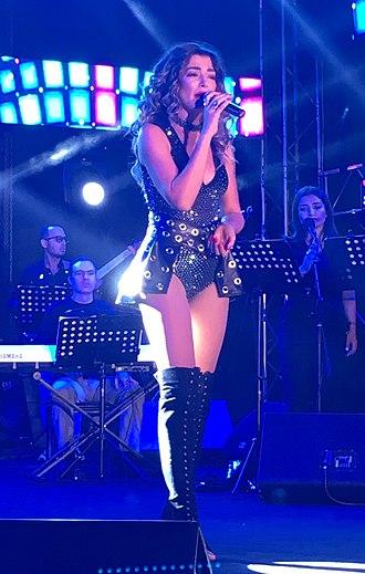 Iveta Mukuchyan - Mukuchyan at an open-air concert