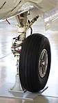JASDF B-65(03-3094) right main landing gear left front view at Hamamatsu Air Base Publication Center November 24, 2014.jpg