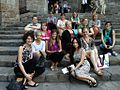 JHU Students Wikipedia group in Barcelona.JPG