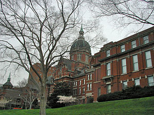 John Rudolph Niernsee - Johns Hopkins Hospital completed 1889