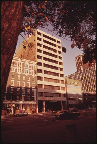Johnson Publishing Company - Johnson Publishing Company (JPC) headquarters at 820 S. Michigan Avenue, 1973. Photo by John H. White.