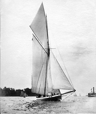 Puritan (yacht) - Puritan as photographed by John S. Johnston.
