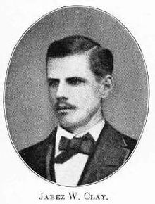 Jabez William Clay, a founder of Phi Sigma Kappa Fraternity, in 1875, sm.jpg