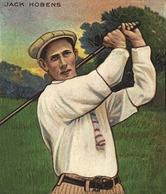 Jack Hobens - A 1910 artist's rendition of Hobens on a cigarette card