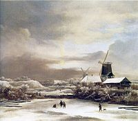 Jacob van Ruisdael - Winter Landscape with Two Windmills.jpg
