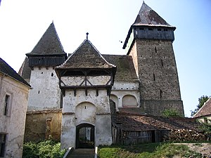 Iacobeni, Sibiu - Image: Jakobsdorf Torturm