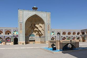 Jameh Mosque of Isfahan - Image: Jameh Mosque of Isfahan Western Iwan 01