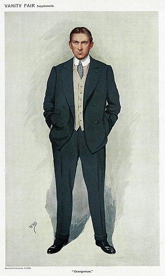 James Craig, 1st Viscount Craigavon - Craig caricatured by WHO for Vanity Fair, 1911