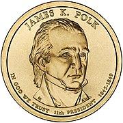 James Polk Presidential $1 Coin obverse