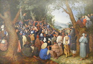 Jan Brueghel the Elder, John the Baptist preaching